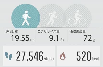 ちなみに歩行時間は297分でした