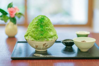 抹茶エスプーマかき氷