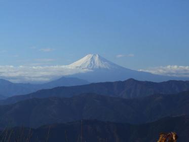 大岳山から眺める富士山