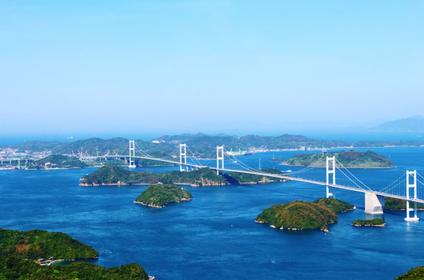 """亀老山展望台から見える""""多島美"""""""