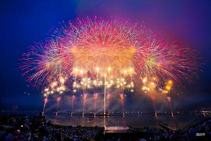 스와호 축제 호상 불꽃축제