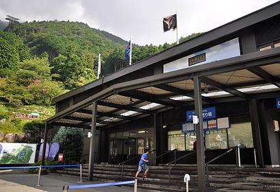 びわ湖バレイ行き「ロープウェイ山麓駅」