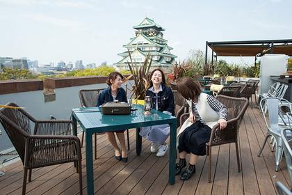 Osaka Castle views from Miraiza