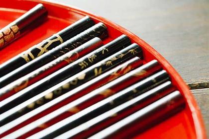 Chopsticks of the Wajima lacquering technique