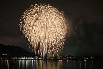 富士五湖區的煙火大會