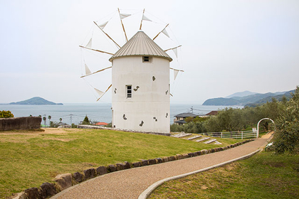 The Greek windmill at Shodoshima Olive Park