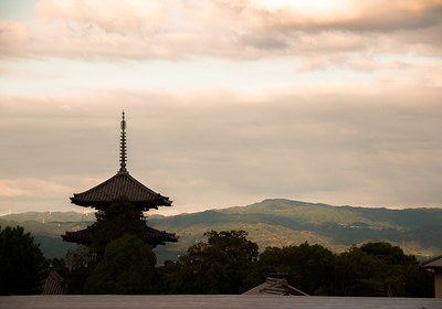 Explore around Horyu-ji Temple in Nara by car and on foot