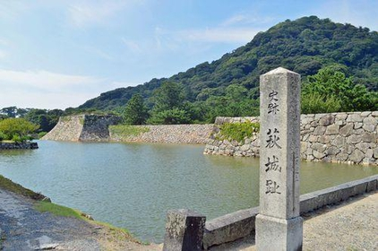 The ruins of Hagi Castle in Shizuki Park image