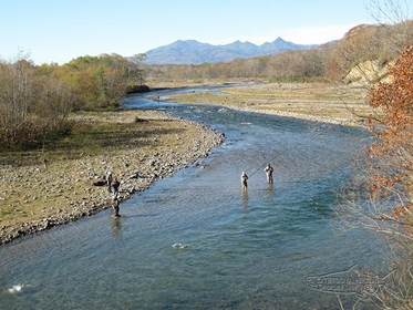 Churui River Salmon Fishing image