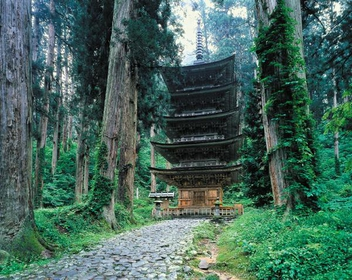 Mt. Haguro Five-Storied Pagoda image