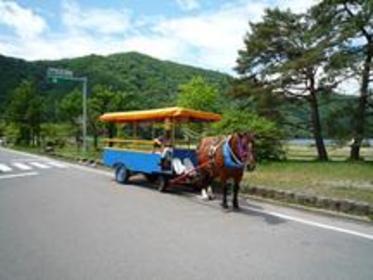 榛名湖畔蹄声马车 image
