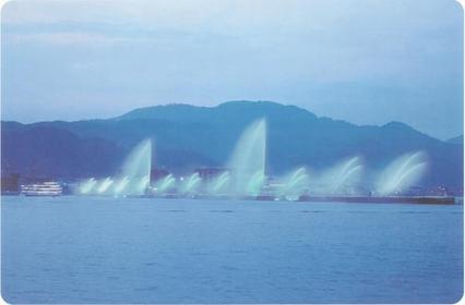 琵琶湖花噴泉 image