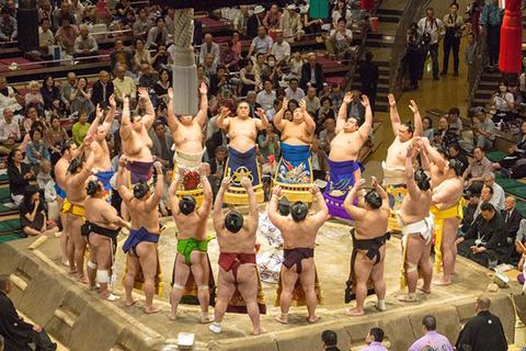 相扑-欣赏大块头选手飞扑角逐的身姿