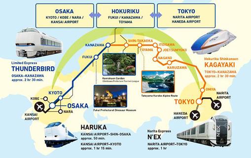 The Osaka/Tokyo Hokuriku Arch Pass for tourists visiting Japan