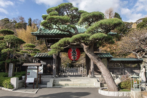 The entrance to Hasedera Temple is an iconic image of Kamakura