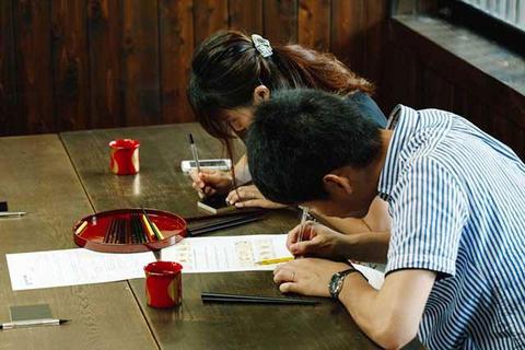 Chopstick Engraving Experience in Wajima