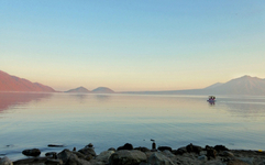 夕暮れの「支笏湖(しこっこ)」