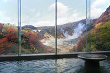 「第一滝本館」にはたくさんの温泉が。