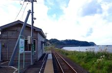 駅に停車する列車は1日5往復のみ(2017年11月時点)
