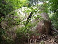 瑞牆山登山道にある奇岩
