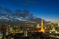 ヘリから見下ろす東京の夜景