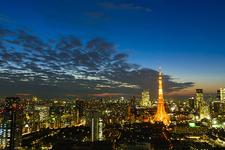 ヘリから見下ろす東京の夜景に大はしゃぎできます