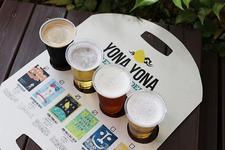 4種の飲み比べセット専用ホルダー -YONA YONA BEER GARDEN in ARK Hills