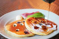 アメリカ式の朝食をいただけます!