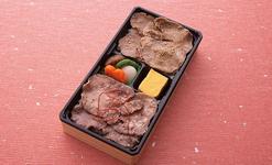 「利久 牛たん丼 たれと塩のW弁当」1,296円(税込)