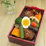 「ひと皿で28品目!越後産大豆使用 豆腐バーグの野菜たっぷり重」699円(税込)