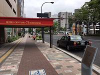 広島駅南口より南へ延びる綺麗な通り「駅前通り」。駅の近くなので市内中心部から戻ってくるタクシーも多数。