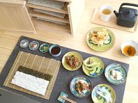 5皿+天ぷら+利き茶スタンド 1580円(税抜)
