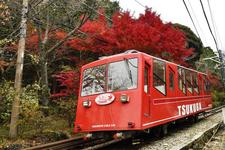 筑波山 ケーブルカーと紅葉