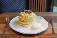 五郎島金時のモンブランパンケーキ 1180円
