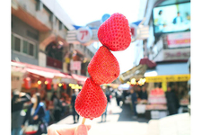 「百果園」のイチゴ1本 200円(税込)