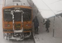 雪国を走るローカル線「津軽鉄道」