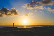 「残波岬」から見える夕日