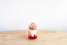 「はれもけも」人気No.1ジャースイーツ『苺のショートケーキ』