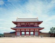平城京において最も重要な門、「朱雀門」。