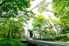 豊かな自然に囲まれる美術館