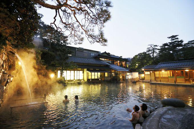 日本一大きな混浴露天風呂がスゴイっ!島根・玉造温泉「長楽 ...