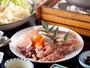京赤鶏の地鶏鍋醤油ベースのお出し