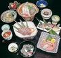 刺身、中盛、天婦羅、茶碗むし、鍋類、果物、吸い物等