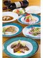 大人宿泊コース料理イメージ(2019/4.5月コース)シェフ自慢の創作コース料理です。