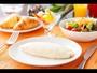 朝食ブッフェ♪ピュアホワイトという卵で作る「ホワイトオムレツ」。シェフが目の前でお作りいたします。