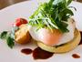 クラブインターコンチネンタルのご朝食。お客様のオーダーを受けてから出来立てのお料理をご用意します。