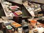 朝食バイキングでは地元の食材を使用した和洋の料理をご用意