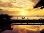 夕日に染まる諏訪湖一望の大浴場『峰望の湯』露天