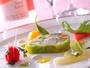 ディナ-の始まりには季節の野菜の旨みを味わっていただくテリーヌをどうぞ(料理一例)