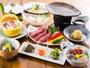 神奈川県和牛、足柄牛の陶板焼きのお夕食